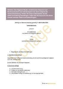 Auftragsdatenverarbeitung: Muster zum Download