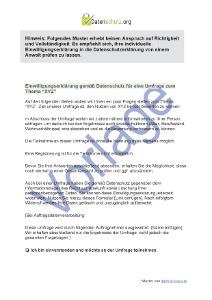einwilligung in die datenschutzerklrung bei einer umfrage muster zum download - Muster Datenschutzerklarung