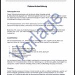 Vorschau: Muster einer Datenschutzerklärung