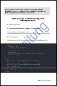 Vorschau: Anleitung zur Google-Analytics-Einbindung