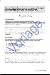 Vorlage einer Datenschutzerklärung zum Download