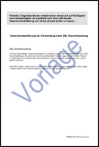 Vorlage zur Datenschutzerklärung bei SSL-Einbindung